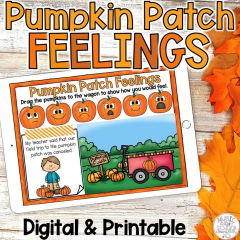 Fall Pumpkin Feelings & Emotions Game